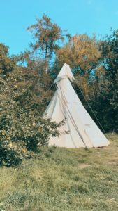 tipi in wye valley