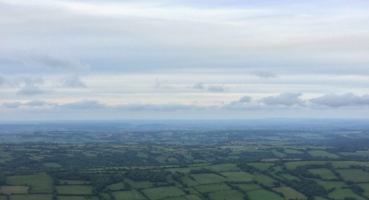views from Cats Back in herefordshire